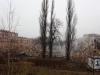 28.12.2011 Bytom. Rozbiorka domow w dzielnicy Karb. Nieodwracalne uszkodzenia budynkow spowodowane byly przez kopalnie.Fot. Piotr Wojcik